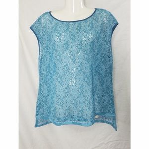 Elie Tahari Sheer Lace Top